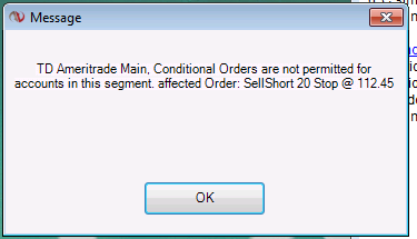Conditional orders not permitted? - NinjaTrader Support Forum