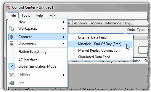 Kinetick forex data