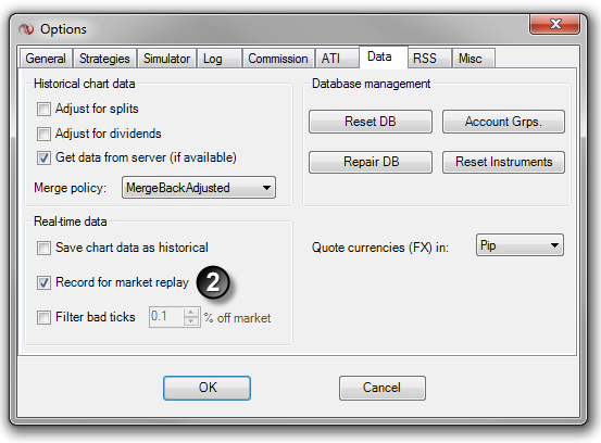 Forex market replay simulator